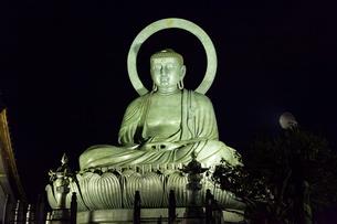 高岡大仏のライトアップの写真素材 [FYI01716478]