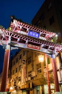 神戸 中華街 海栄門(南楼門)の写真素材 [FYI01716775]