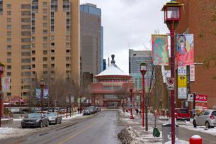 カナダ カルガリー チャイナタウンの写真素材 [FYI01716779]