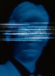 目元が文字で消されている男性 合成の写真素材 [FYI01717416]