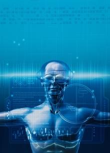 ロボットイメージ(青) CGの写真素材 [FYI01717433]