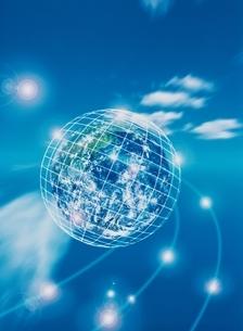 ミラーボール状の地球(青) CGのイラスト素材 [FYI01717462]