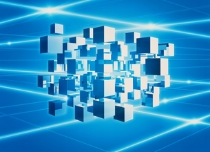 複数の立方体 CGのイラスト素材 [FYI01717567]