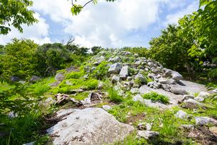 今帰仁城跡、大隅の石の写真素材 [FYI01718184]