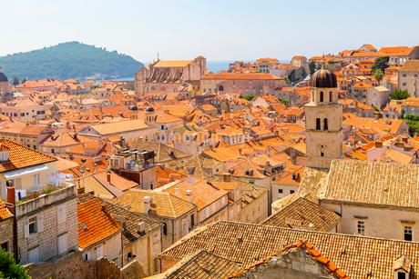城壁から望む旧市街中心部の写真素材 [FYI01718230]