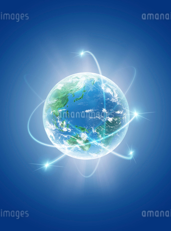 地球  CGイラストの写真素材 [FYI01718317]