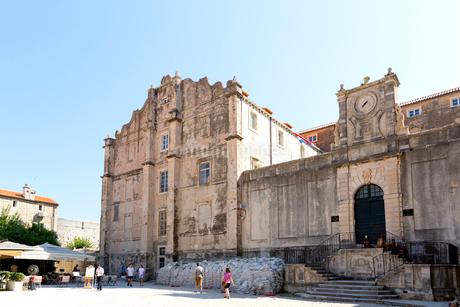 ドブロブニク、聖イグナチオ教会の写真素材 [FYI01718357]