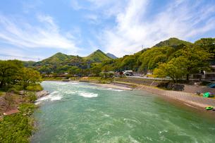 水上温泉,諏訪峡の写真素材 [FYI01718518]