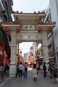 神戸中華街 長安門の写真素材 [FYI01718621]