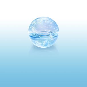 地球と水イメージのイラスト素材 [FYI01718840]