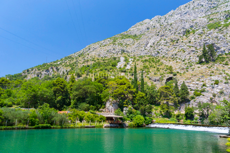 クロアチア、オンブラ川の写真素材 [FYI01719011]
