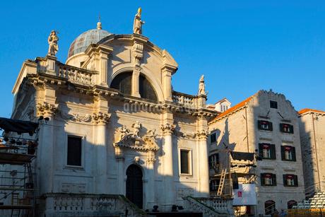 ドブロブニク旧市街、聖ヴラホ教会の写真素材 [FYI01719085]