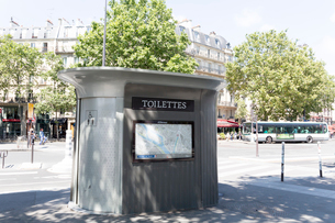 パリの公衆トイレの写真素材 [FYI01719106]