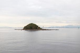 端島と博多湾の写真素材 [FYI01719225]