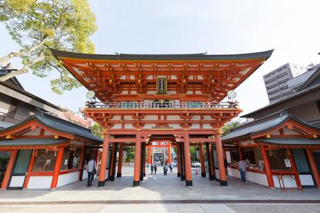 生田神社 楼門と鳥居の写真素材 [FYI01719242]