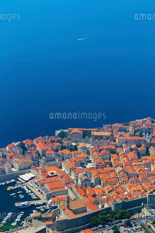 山上から望む旧港と総督邸の写真素材 [FYI01719287]