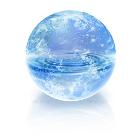 地球と水イメージのイラスト素材 [FYI01719446]