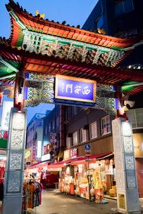 神戸 中華街 西安門(西楼門)の写真素材 [FYI01719467]
