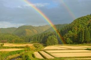 虹と里山の写真素材 [FYI01719891]