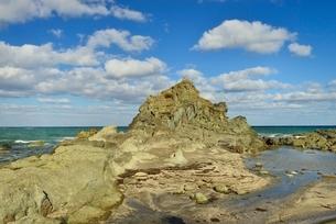 千畳敷海岸、鎧岩の写真素材 [FYI01720033]