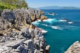 巨釜半造の海岸風景の写真素材 [FYI01720532]