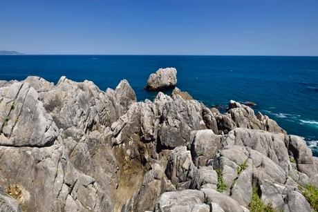 巨釜半造,トド岩の写真素材 [FYI01720578]