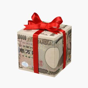 お札のプレゼント箱の写真素材 [FYI01720825]