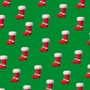 サンタのブーツのパターンの写真素材 [FYI01720855]