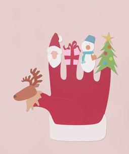 クリスマス手袋の写真素材 [FYI01720873]