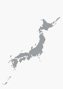 メタリックの日本地図 シルバーの写真素材 [FYI01721040]