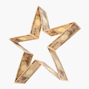 一万円札の星イメージの写真素材 [FYI01721081]