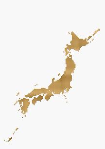 メタリックの日本地図 ゴールドの写真素材 [FYI01721093]