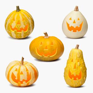 ハロウィンのかぼちゃのおばけの写真素材 [FYI01721153]