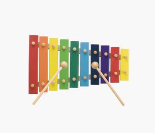 カラフルな木琴の写真素材 [FYI01721565]