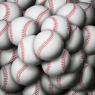 積み重なるボールの写真素材 [FYI01721582]