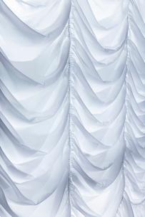 白いドレープのカーテンの写真素材 [FYI01722197]