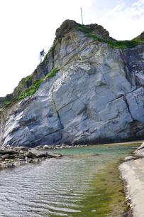 犬吠埼の白亜紀浅海堆積物の写真素材 [FYI01724149]