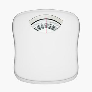 メモリがぶれている体重計の写真素材 [FYI01724309]