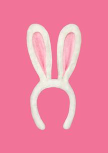 ウサギの耳のカチューシャの写真素材 [FYI01724614]