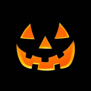 ハロウィンのかぼちゃのおばけの顔の写真素材 [FYI01724928]