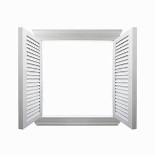 開いた窓の写真素材 [FYI01724996]