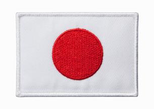日本国旗のワッペンの写真素材 [FYI01725167]
