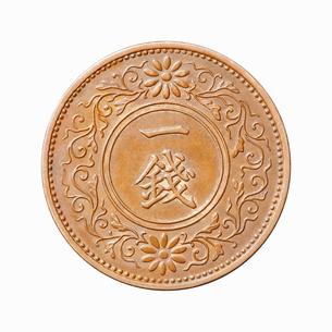 1銭玉の写真素材 [FYI01725204]