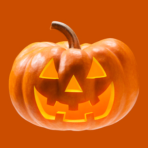ハロウィンのかぼちゃのおばけの写真素材 [FYI01725262]