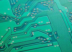 電子回路基板の写真素材 [FYI01725447]