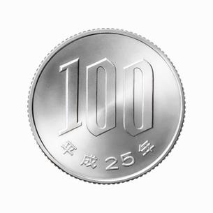 100円玉の写真素材 [FYI01725482]