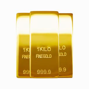 金の延べ板のイメージの写真素材 [FYI01725547]