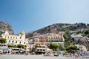 アマルフィ海岸の町ポジターノ イタリアの写真素材 [FYI01725705]