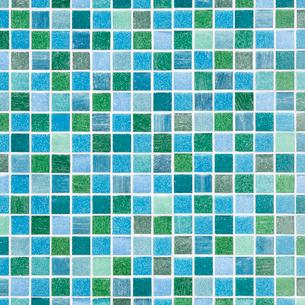 緑色のモザイクタイルの写真素材 [FYI01725724]