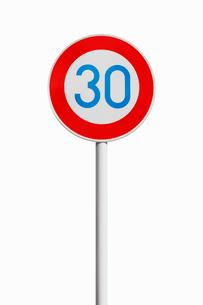 道路標識 最高速度の写真素材 [FYI01725799]